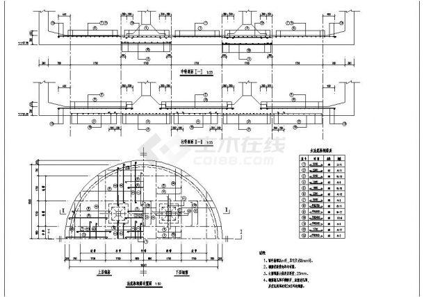 某地区水池结构设计施工图纸-图二
