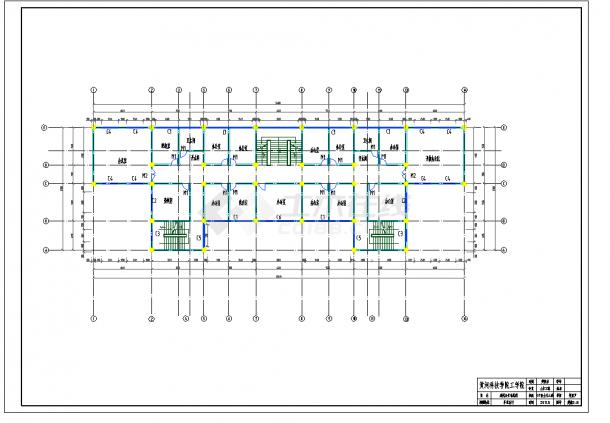 某地多层4465.00平米框架行政办公楼毕业设计(含计算书,建筑结构图纸)-图一