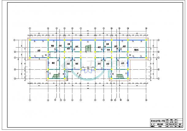 某地多层4465.00平米框架行政办公楼毕业设计(含计算书,建筑结构图纸)-图二