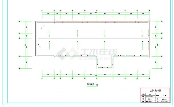 某地多层5810平米钢框架结构办公楼毕业设计(含计算书,建筑结构图纸)-图一