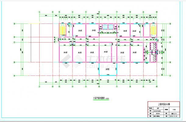 某地多层5810平米钢框架结构办公楼毕业设计(含计算书,建筑结构图纸)-图二