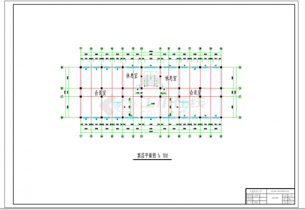 某地多层6900平米左右一字型框架办公楼毕业设计(建筑结构图纸、计算书)-图一