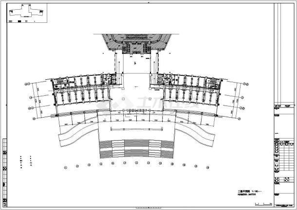 乐山市川府路行政综合服务中心全套强弱电系统设计CAD图纸-图一