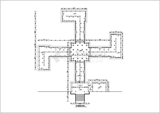 某景区寺庙精品罗汉堂建筑图施工全套设计图-图一