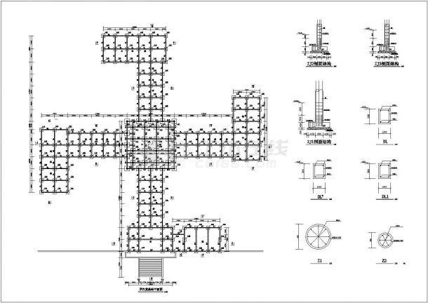 某景区寺庙精品罗汉堂建筑图施工全套设计图-图二