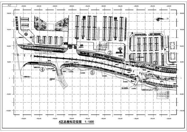 苏州某郊区景观大道0A区完整施工设计图-图一