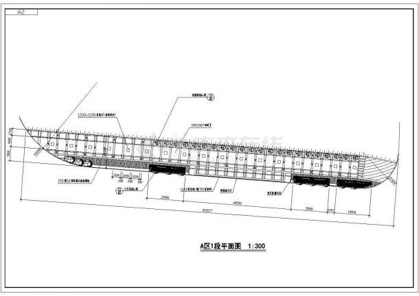 苏州某郊区景观大道0A区完整施工设计图-图二