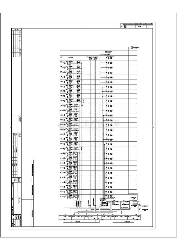 上海市浦东新区某33层金融写字楼强弱电系统设计CAD图纸-图二