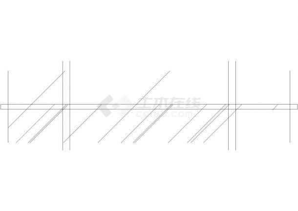 某精品服装店全套装修施工设计cad图纸-图二