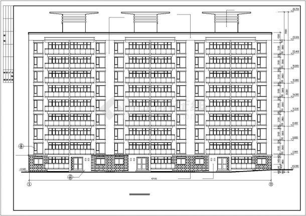邯郸市某小区5300平米9层框架结构住宅楼全套建筑设计CAD图纸-图一