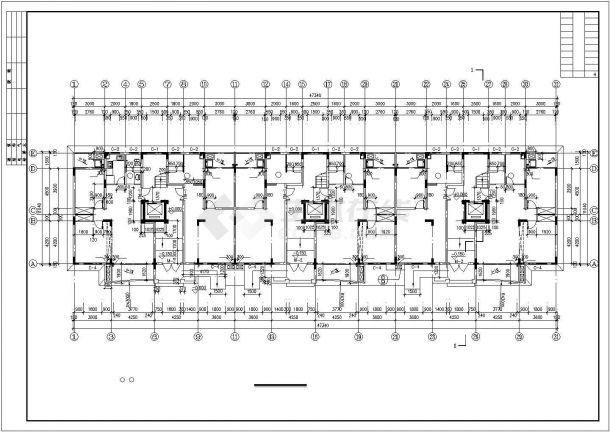 邯郸市某小区5300平米9层框架结构住宅楼全套建筑设计CAD图纸-图二