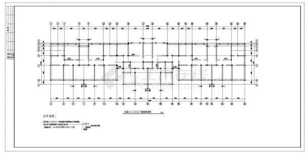 某五层砖混住宅楼结构设计施工cad图纸-图一