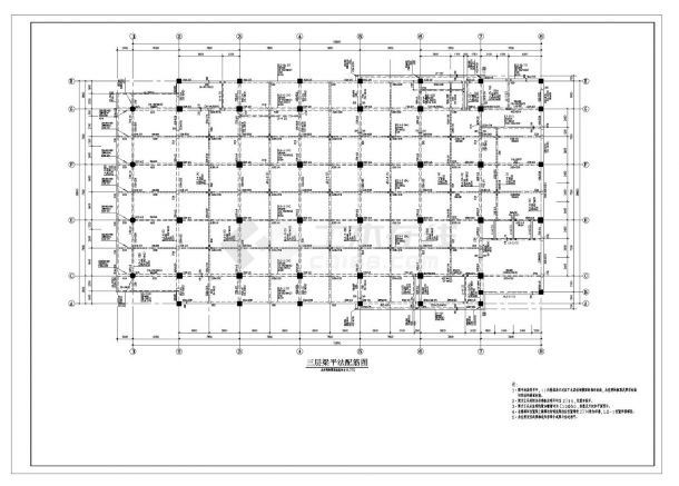 某市住宅楼框架结构设计施工图CAD规划详图-图一