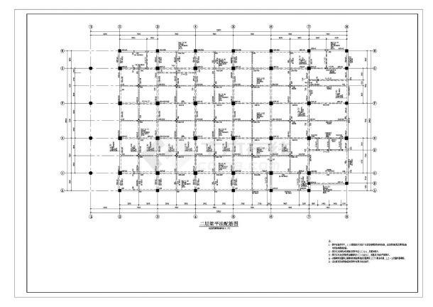 某市住宅楼框架结构设计施工图CAD规划详图-图二