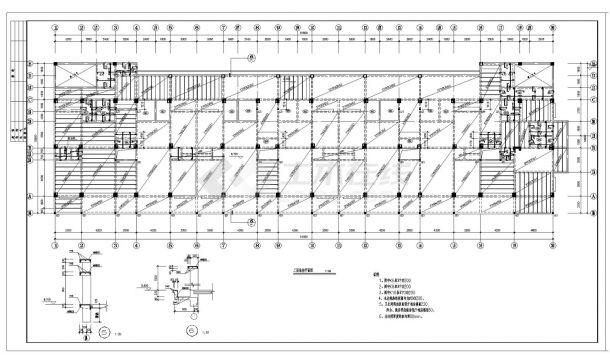 某城市住宅楼框架结构设计施工图参考详图-图一
