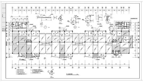 某城市住宅楼框架结构设计施工图参考详图-图二