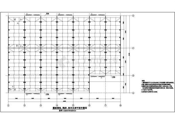 某地钢结构厂房施工设计图纸-图二