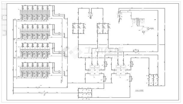 二台溴化锂直燃机组全套机房设计图纸CAD施工图-图二