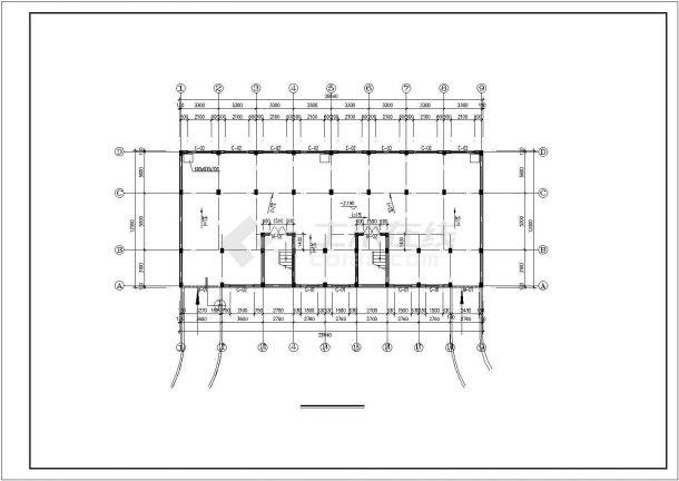 4000平米6+1层砖混结构住宅楼建筑设计CAD图纸(含半地下室层)-图一