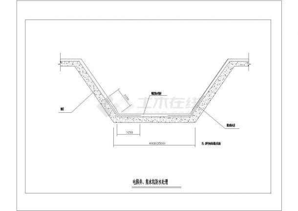 电梯井、集水坑防水处理建筑全套cad图,含效果图-图一