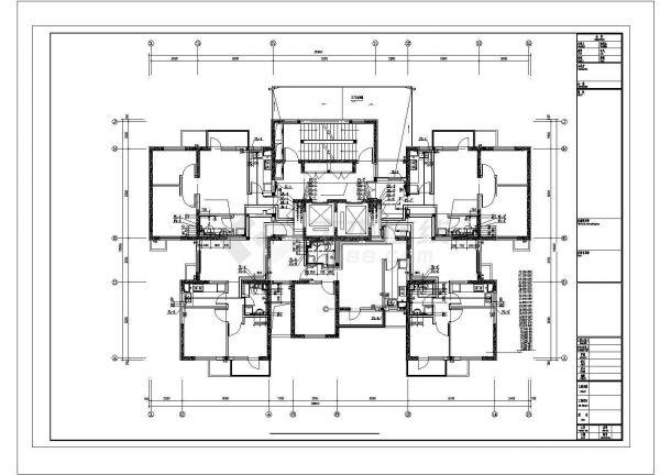 [天津]超高层住宅小区给排水施工图-图一
