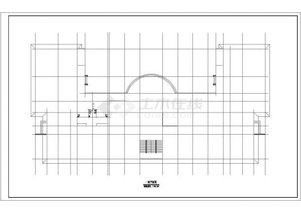 杭州三层框架结构藏式综合教学楼建筑图-图一