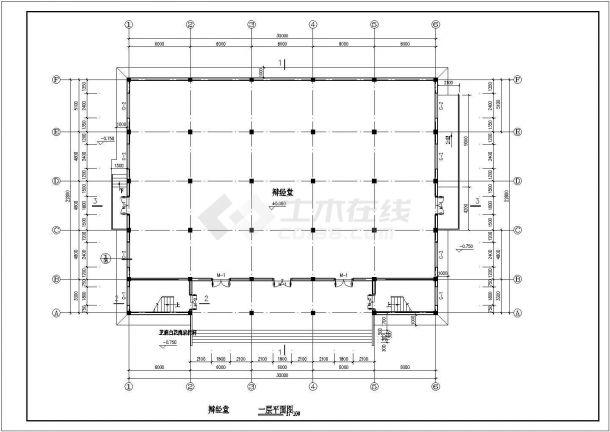 杭州三层框架结构藏式综合教学楼建筑图-图二