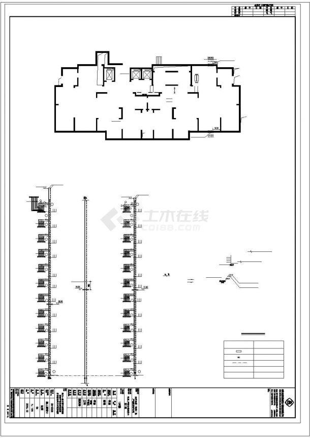 南京市某小区1.4万平米24层框架结构住宅楼采暖系统设计CAD图纸-图一