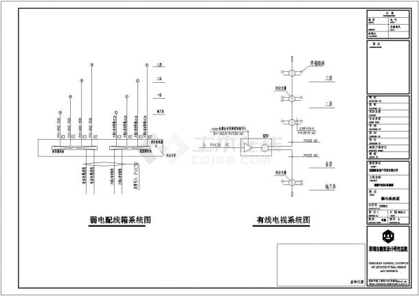 上海某多层住宅楼G型全套建筑施工设计cad图-图二