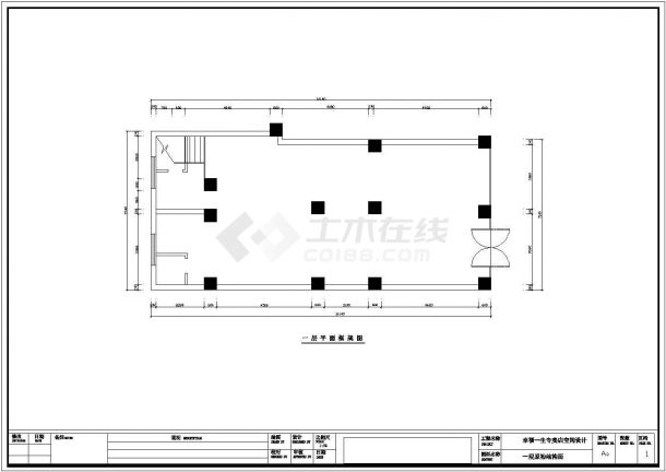 球鞋专卖店全套装修施工设计cad图纸-图一