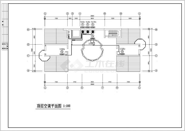 郑州某小区6层住宅变频多联中央空调系统设计CAD图纸(含地下室)-图二