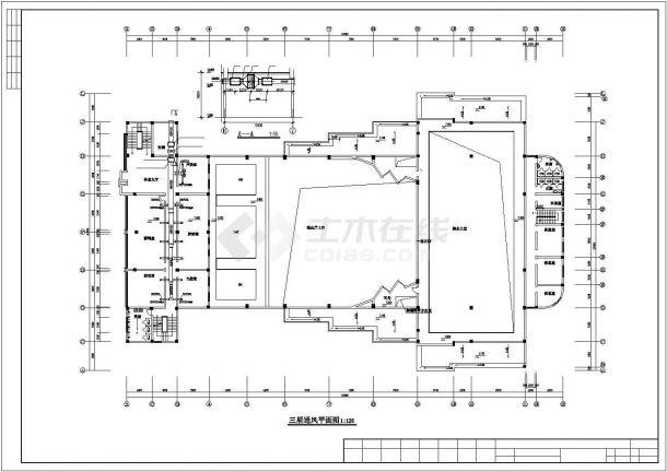 上海某大型影剧院内部VRV空调系统设计CAD图纸-图二
