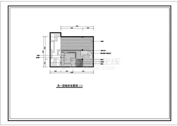 某地小型别墅室内装修设计图纸-图二