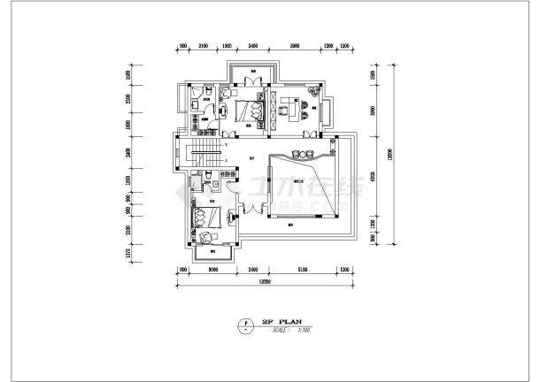 某泰州市别墅建筑装修设计图纸-图一