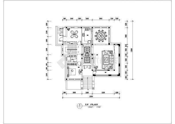 某泰州市别墅建筑装修设计图纸-图二