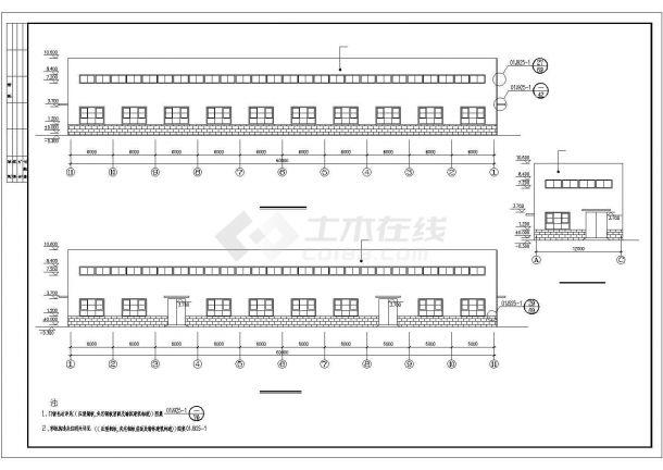 某开发区工厂钢结构设计方案CAD图纸-图一