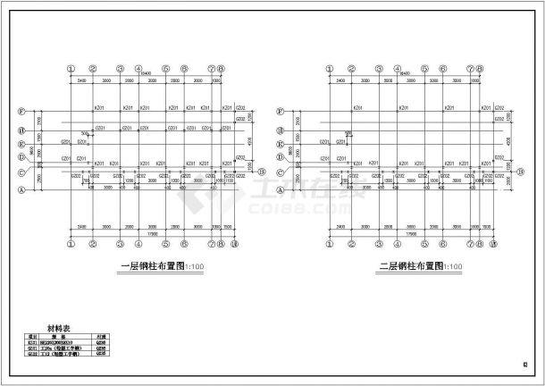 某售楼部钢结构设计方案CAD图纸-图二