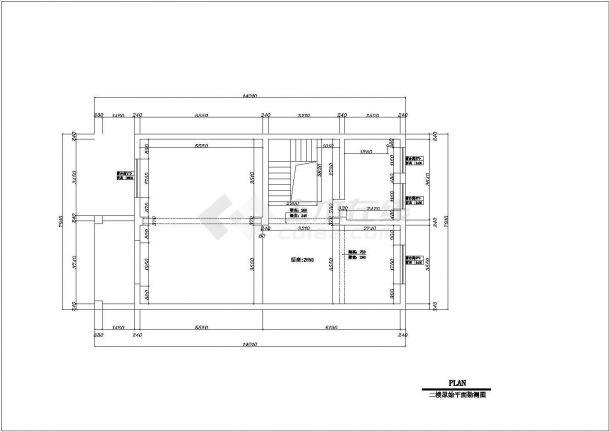 某市欧美式别墅建筑装修设计图纸-图一