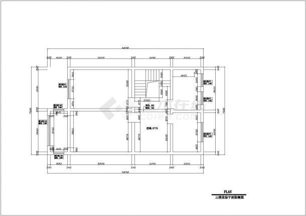 某市欧美式别墅建筑装修设计图纸-图二