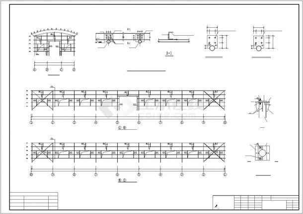 某钢框架结构建筑设计方案CAD图纸-图一