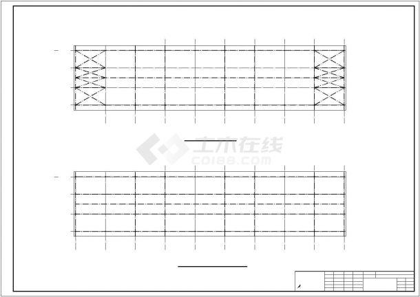 某钢框架结构建筑设计方案CAD图纸-图二