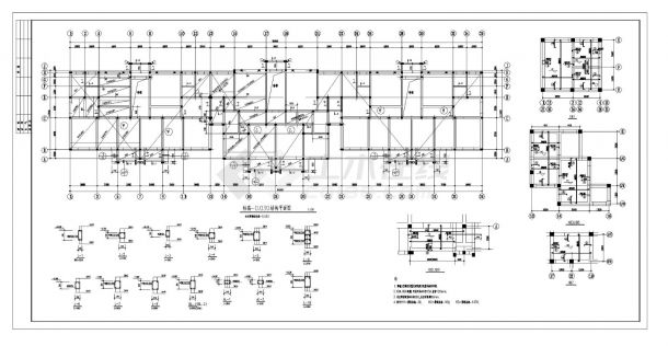 某城市住宅楼砖混结构施工图CAD详图-图一