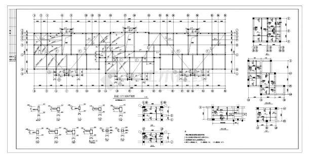某城市住宅楼砖混结构施工图CAD详图-图二