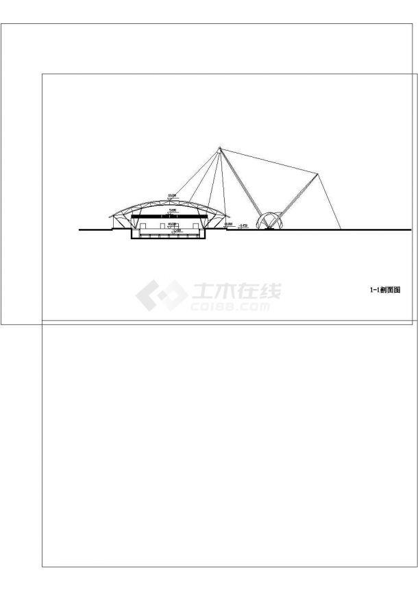 2层游泳馆建筑方案设计图cad-图一