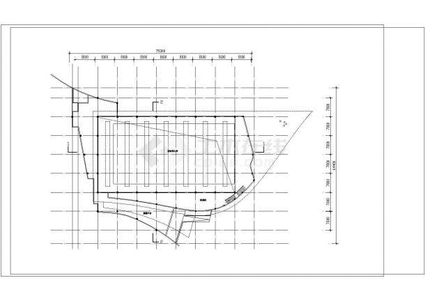 2层游泳馆建筑方案设计图cad-图二