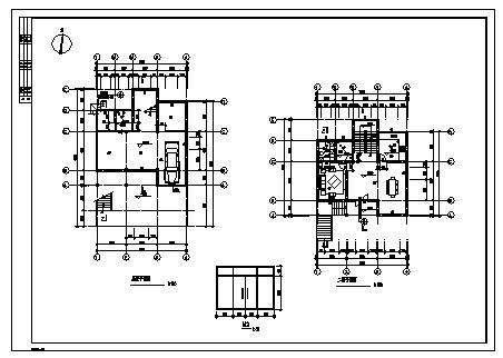 某三层砖混结构新农村别墅建筑施工cad图_别墅施工-图一