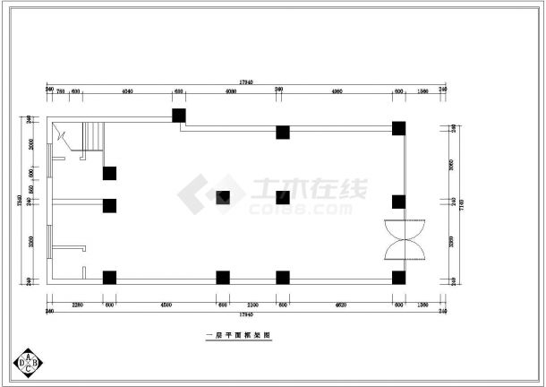 【杭州】某地佐登妮丝专卖店装修施工设计全套cad图-图一