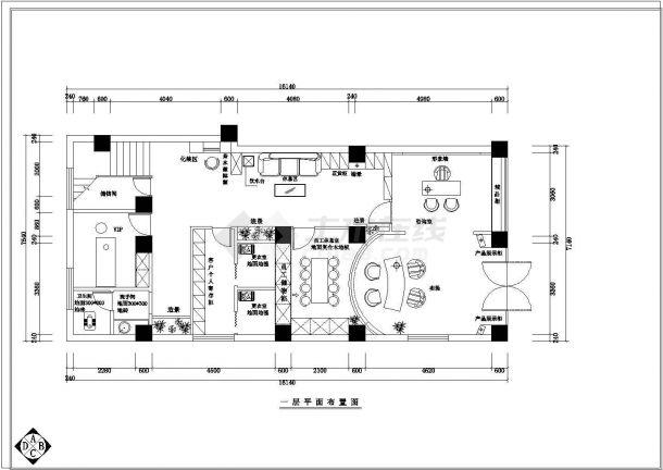 【杭州】某地佐登妮丝专卖店装修施工设计全套cad图-图二