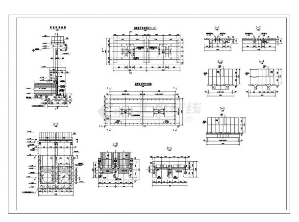 【湖南】水闸设计全套施工图(共7张)-图一