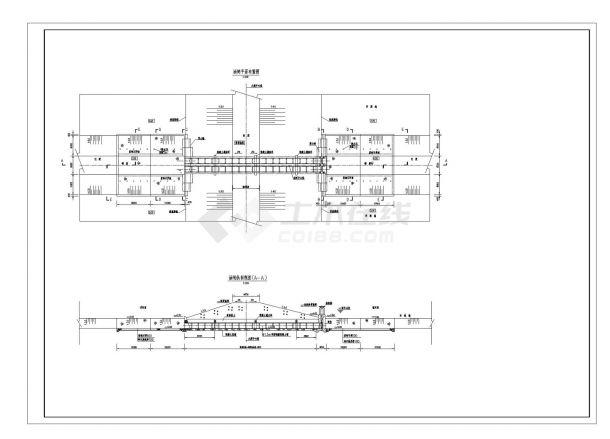 【湖南】水闸设计全套施工图(共7张)-图二